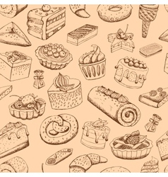 Seamless sweet pastries vector