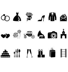 wedding icons vector image