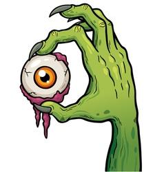 Zombie hand vector image vector image