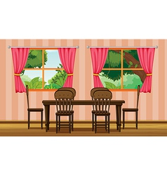 A dinning table vector image vector image