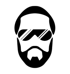 bearded young man vector image