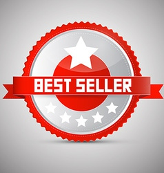 Best Seller Red and Silver Award - Label - Tag vector image vector image