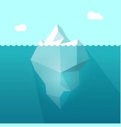 iceberg in ocean water berg vector image