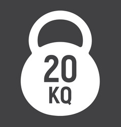 kettlebell glyph icon fitness and sport workout vector image