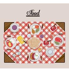 Menu and Food design vector image vector image