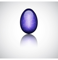 Technology easter egg vector image vector image