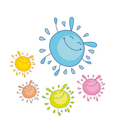 tender color funny water drop mascot bubble shape vector image vector image