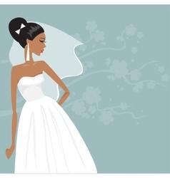 beautiful bride in a wedding dress vector image