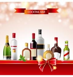 Cocktail bar vector