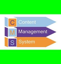 Content management system arrows vector