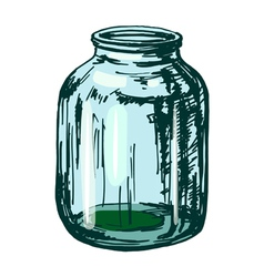 glass jar vector image vector image