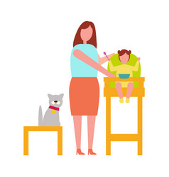 icon of mother with child vector image vector image