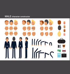 male character constructor for different poses vector image