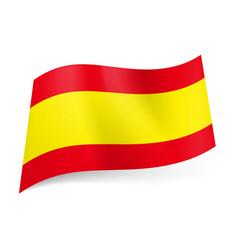 national flag of spain wide yellow stripe between vector image vector image
