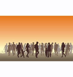 people in the horizon vector image vector image