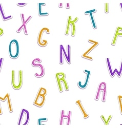 Seamless pattern with funny doodle letters vector image