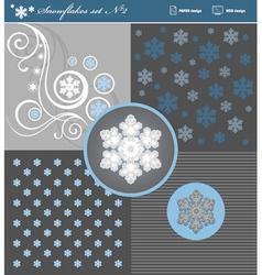 Snowflakes set 2 vector image
