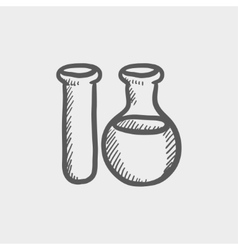 Test tube sketch icon vector image