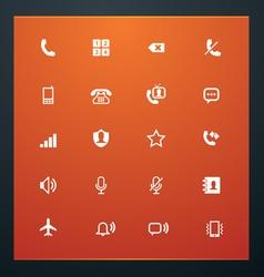 Universal glyphs 12 phone symbols 1 vector