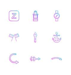 Alphabets sea food picnic summer eps icons vector