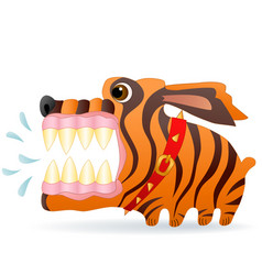 angry dog cartoon character image vector image