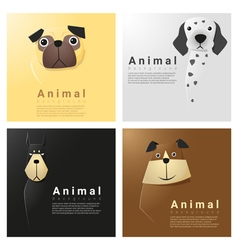 Animal portrait collection with dogs 4 vector