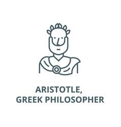 Aristotle greek philosopher line icon vector