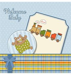 Baboy announcement card vector
