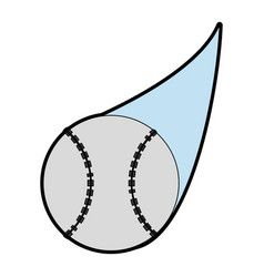 ball baseball related icon image vector image