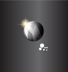 Ball silver vector