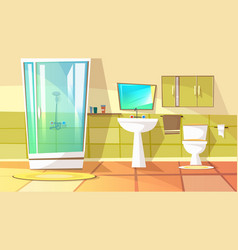 Bathroom with stall shower vector