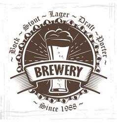 beer brewery badge vector image