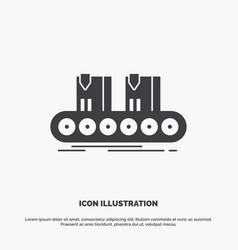 belt box conveyor factory line icon glyph gray vector image