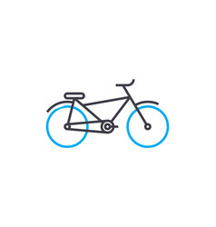 bike thin line stroke icon bike outline vector image