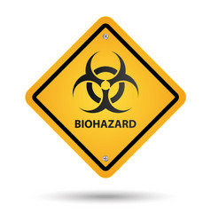 Biohazard yellow sign vector
