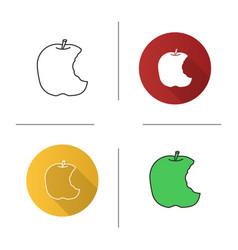 Bitten apple icon vector