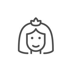 bride line icon vector image