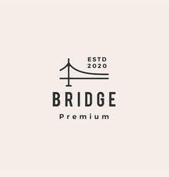 bridge hipster vintage logo icon vector image