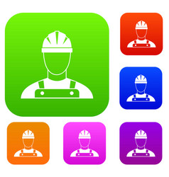 builder set collection vector image