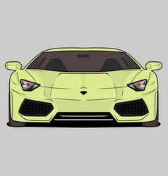 Cartoon sport car ferrari vector