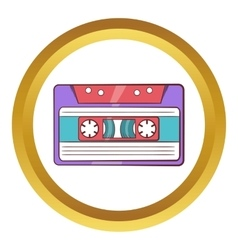 Cassette tape icon cartoon style vector