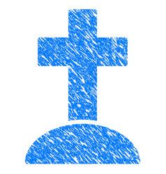 cemetery cross grunge icon vector image