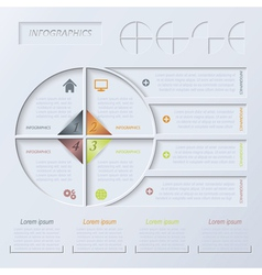 Circle infographic design template vector image