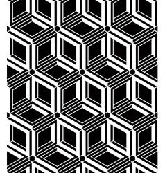 Contrast black and white symmetric seamless vector image