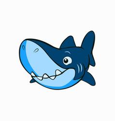 Cute little shark animal vector