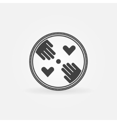 Flat hand made symbol vector image