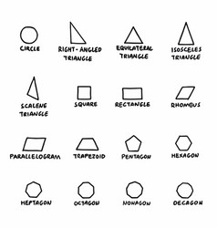 geometric forms set vector image