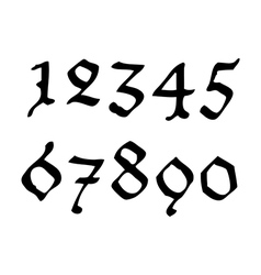 Ghotic numbers vector image