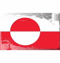Greenland national flag vector image