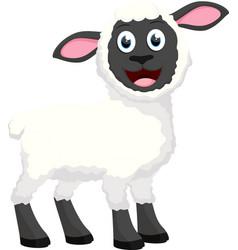 Happy sheep cartoon vector
